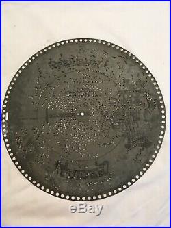 Lot Of 4 Antique Regina Polyphon 15 1/2 Inch Music Box Discs
