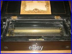 Nice Big 10 Song 13 Inch Cylinder Swiss Music Box