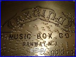 Nice Lot Of 10 Antique Regina 15 1/2 Music Box Discs At A Georgia Camp March N/R