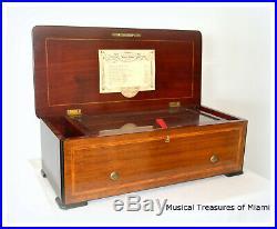 Nicole Freres Oratorio Music Box Rare 2-per-turn 12 Tune Format