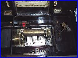 Old Antique Music Cylinder Music Box For Parts Or Restoration