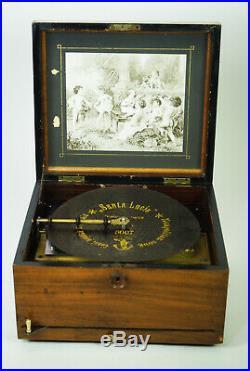 POLYPHON DISC MUSIC BOX 24 cm You can hear me play