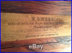 Pre-1900 Antique R. Snell London Barrel Piano Roller Organ Large 8-Tune Music Box