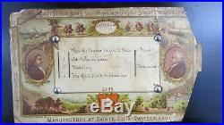 RARE 1800's HENRY GAUTSCHI & SONS MUSIC BOX 4 SONGS WORKS LARGE MUSIC BOX