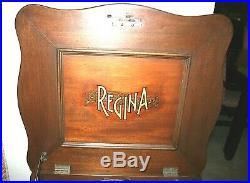 REGINA 15 1/2 Double Comb Disk Music Box and Phonograph (Model 150) & 10 Disks