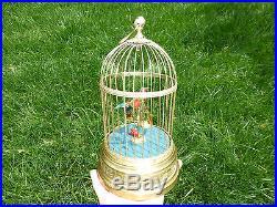 Rare 1890s Antique Automaton Singing Bird Cage Music Box Customized Singing Tone