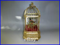 Rare Antique German Automaton Singing Bird Cage Music Box Customized Bird Tone