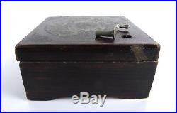Rare Antique German SYMPHONION Brevete Patent Wood 1800s MUSIC BOX (28) Disc Lot