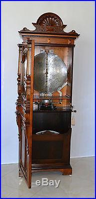 Rare Antique Imperator Upright 21 Disk Music Box A Musical Treasure