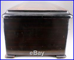 Rare Antique Swiss Picard Lion Rosewood Wood Inlay Cylinder Music Box Works