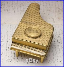 Rare GRAND PIANO SHAPED SINGING BIRD BOX ANTIQUE MUSIC BOX AUTOMATON Video
