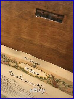 Rare Hermann Ockel Cylinder Music Box