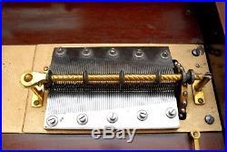 Regina 15.5 Disc Double Comb Music Box Carved Mahogany Case + 15 Discs