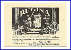 Regina 20.75 Style 28 Music Box We Ship Worldwide