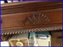Regina Music Box model #6 in mahogany, plays 27 discs, restored condition