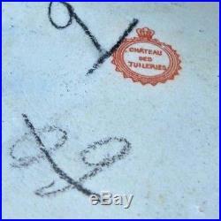 SEVRES HP Porcelain DRESSER & SWISS MUSIC BOX COMBO 19THC CHATEAU DES TUILERIES