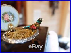 Silver And Enamel Fuseé Singing Bird Box By Charles Bruguier (watch Video)