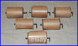 Six Antique Tanzbar Player Concertina Rolls Made in Germany