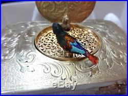 Sterling Silver Fuseé Singing Bird Box By Charles Bruguier (watch Video)