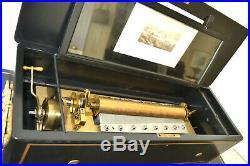 Summer Sale Swiss 6-cylinder Interchangeable Cylinder Music Box