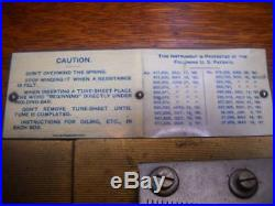 Super Antique Regina 15.5 Double Comb Disc Music Box Oak Cabinet with Discs