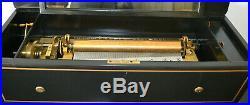 Swiss Interchangeable 6 Cylinder Music Box & Table We Ship Worldwide