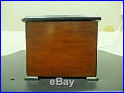 Swiss Music Box, Antique, 8 Tunes Pin Roller 3 Bells and Drum working C. 1800s