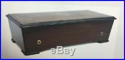 Swiss Twelve Airs Cylinder Music Box Rosewood Case