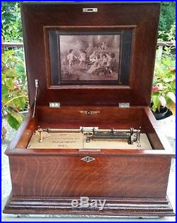 Symphonion Style 160, 60 Note Single Comb Music Box. Circa 1890