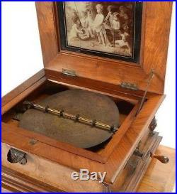 Symphonium Walnut cased Music Box 1900 serial #215513