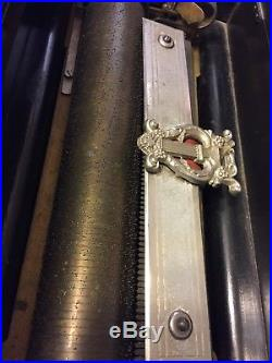 Tremolo-Zither Swiss Music Box Antique Cylinder