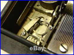 VERY RARE -Small 3 Air Cylinder Music Box Swiss Antique numbered plate