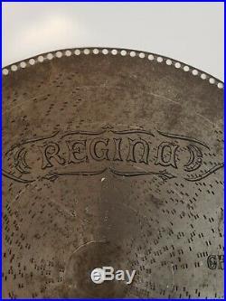 Vintage 27 INCH Large Regina Music Box Disc Choral Luther 5357 Metal Disc