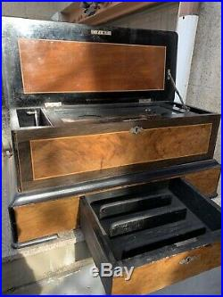 Vintage Antique Columbia Music Box Swiss Made. Pat. 1884