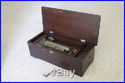 Vintage Antique Music Box Swiss Made. 19th century Plays 12 Songs