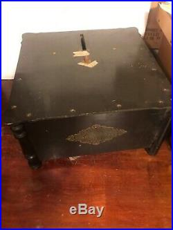 Vintage Ariston Organette Disc Music Player Project Paper Album Comb Hand Crank