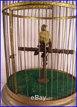 Vintage Bontems French Singing Bird Automaton Bird Cage Music Box As Found Works