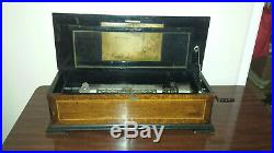 Vintage Swiss Cylinder Music Box (Circa 1900-1909)