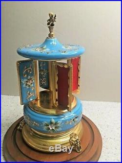 Vtg Musical Cigarette Dispenser Porcelain and Metal Music Box Works Maker